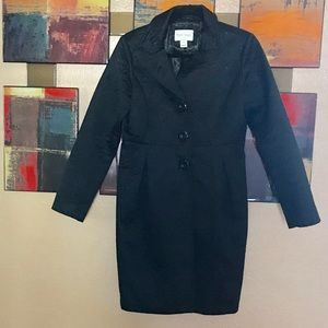 White House Black Market Black Quilted Coat Size S